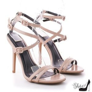 Wild Diva Shoes - Adele Nude Double Strappy Heels